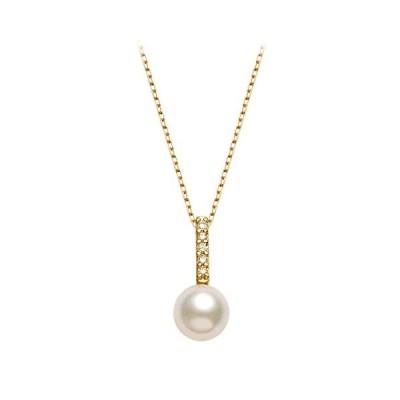 可愛い ウサギ ネックレス 5A級CZダイヤ 3色 花珠高級オーロラ貝パール 10mm ホワイト ピンク ゴールド ペンダント