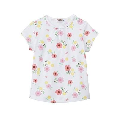 [ミキハウス ホットビスケッツ] Tシャツ ベビー服 キッズ 男の子 女の子 72-5209-458 (ホワイト 90)