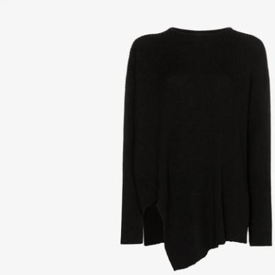 マルケス アルメイダ Marques'Almeida レディース ニット・セーター トップス Asymmetric merino sweater black