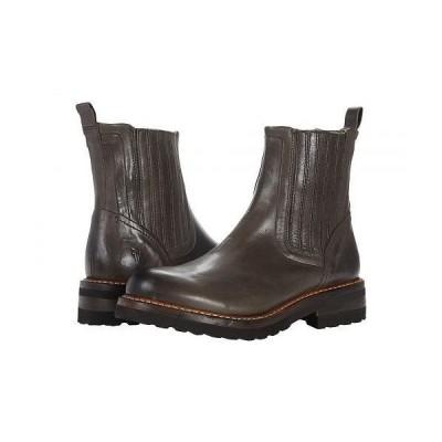 Frye フライ レディース 女性用 シューズ 靴 ブーツ チェルシーブーツ アンクル Ella Moto Chelsea - Grey Dyed Full Grain Pull-Up
