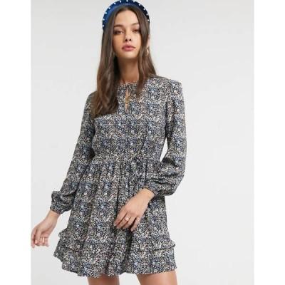 ミスセルフフリッジ レディース ワンピース トップス Miss Selfridge smock dress in floral print Multi