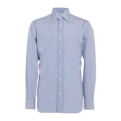 BURINI シャツ ブルー 39 コットン 100% シャツ