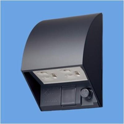 パナソニックエコソリューションズ スマート設置防水ダブルコンセント ブラック W87×H126×D67mm WK4602BK