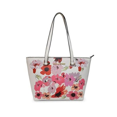 Adrienne Vittadini Spring Style Women Handbag ? Medium Sized Tote Bag ? Multiple Compartments ? Lightweight Shoulder Bag ? Durable Zipper and