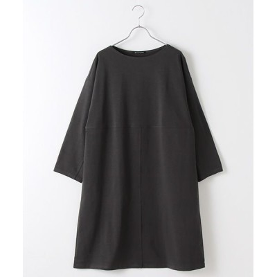 MARcourt/マーコート boat neck front seemed OP gray FREE