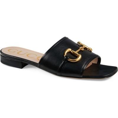グッチ GUCCI レディース サンダル・ミュール スライドサンダル シューズ・靴 Deva Slide Sandal Black