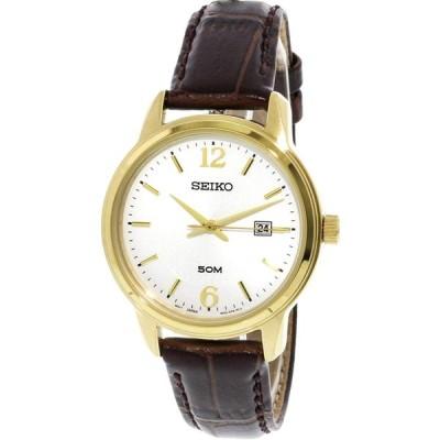 腕時計 セイコー メンズ SUR658P1 Seiko Men's SUR658 Gold Calf Skin Japanese Quartz Dress Watch