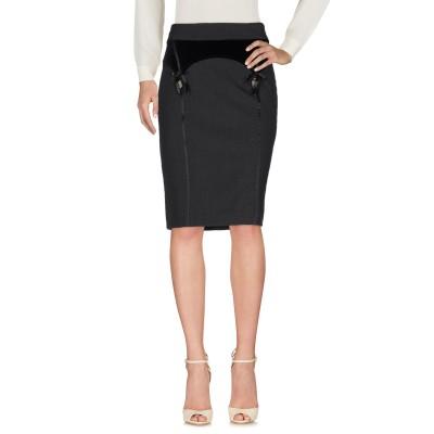 CLIPS MORE ひざ丈スカート 鉛色 42 ポリエステル 52% / バージンウール 43% / ポリウレタン 5% ひざ丈スカート