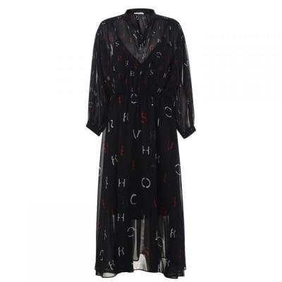 イブルース Iblues レディース ワンピース マキシ丈 ワンピース・ドレス Saturno Fitaf Maxi Dress Nero
