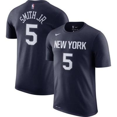 ナイキ メンズ Tシャツ トップス Nike Men's New York Knicks Dennis Smith Jr. Dri-FIT City Edition T-Shirt