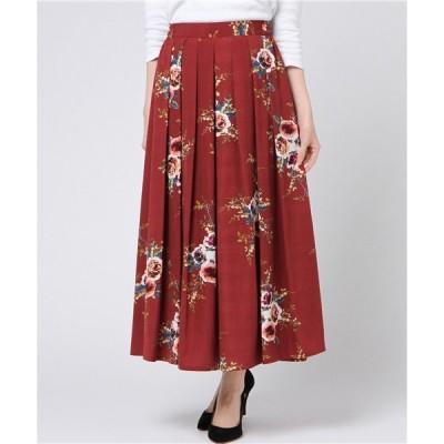 AULI 花柄マキシスカート
