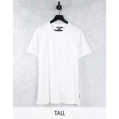 フレンチコネクション メンズ シャツ トップス French Connection Tall Essentials t-shirt in white