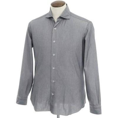 バルバ ダンディライフ BARBA DANDY LIFE コットンポリエステル ワイドカラーシャツ グレー系 41