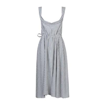 BROCK COLLECTION 7分丈ワンピース・ドレス ブルーグレー 2 バージンウール 60% / レーヨン 40% 7分丈ワンピース・ドレス
