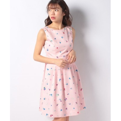 【エリザ】 フラワードットプリントワンピース レディース ピンク系 2号(9号) ELISA