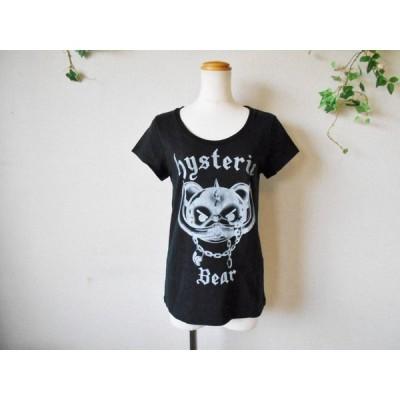 ヒステリックグラマー HYSTERIC GLAMOUR ヒステリック ベアー プリント Tシャツ カットソー 黒 FREE