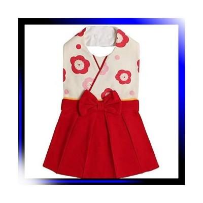 レッド/〜2歳 ベビー 袴 フォーマル スタイ よだれかけ 和装 ビ