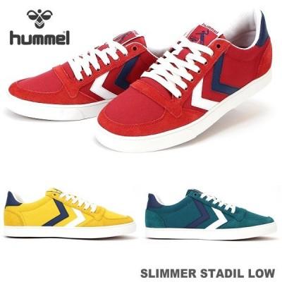 ヒュンメル スニーカー hummel SLIMMER STADIL LOW HM204493 スリマースタディールロー キャンバススニーカー ローカットスニーカー