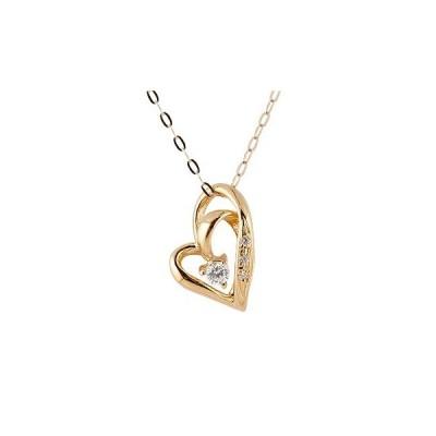 18金 18k ネックレス レディース 人気 ダイヤモンド オープンハート ダイヤモンド ダイヤ ピンクゴールドk18 ダブルハート チェーン 送料無料