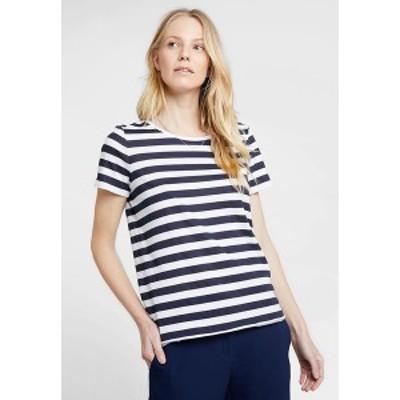 マルコポーロ デニム レディース Tシャツ トップス STRIPED - Print T-shirt - blue/white blue/white