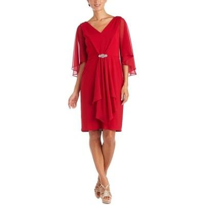 アールアンドエムリチャーズ ワンピース トップス レディース Draped Fit & Flare Dress Red