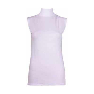 COMMENCER Ladies Sleeveless Stretch Turtleneck Vest Plain T-Shirt Tuni