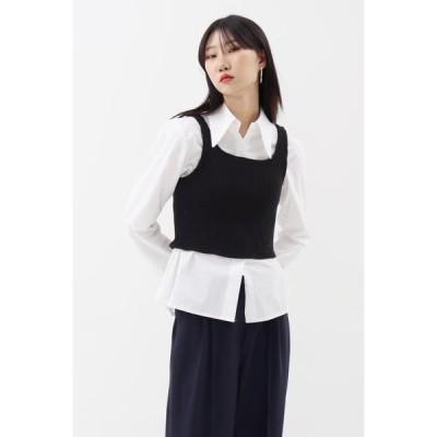 simplymood レディース ニット/セーター Rib Knitwear Top