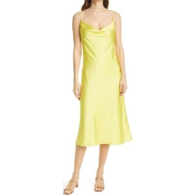 ミリー MILLY レディース ワンピース ワンピース・ドレス Lola Satin Slipdress Yellow