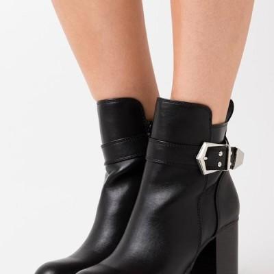 バッファロー レディース 靴 シューズ MELANY - High heeled ankle boots - black
