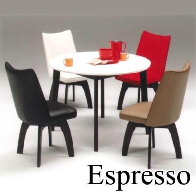 ダイニングテーブルセット ダイニングセット5点 円形 丸型 4人用 鏡面 北欧 ミッドセンチュリー カフェ