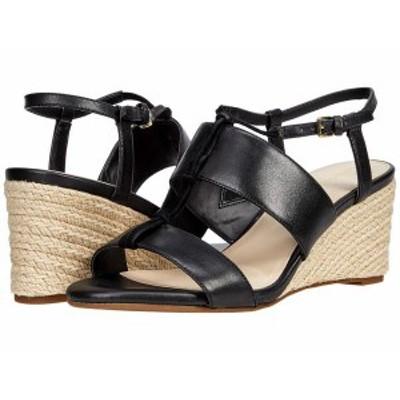 コールハーン レディース ヒール シューズ Arlta Espadrille Wedge Sandal Black Leather/Suede