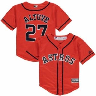 Majestic マジェスティック スポーツ用品  Majestic Jose Altuve Houston Astros Toddler Orange Official Player Cool Base Jersey