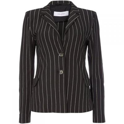 イブルース Iblues レディース スーツ・ジャケット アウター Affari Stripe Blazer Black