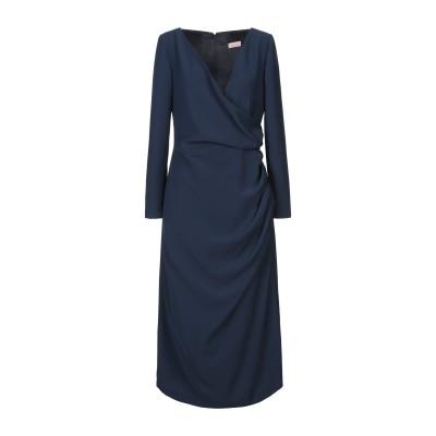 ALEX VIDAL 7分丈ワンピース・ドレス ダークブルー 42 ポリエステル 100% 7分丈ワンピース・ドレス