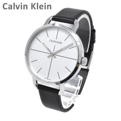 Calvin Klein CK カルバンクライン 時計 腕時計 K7B231CY EVEN EXTENSION イーブンエクステンション シルバー/ブラック レザー レディース ウォッチ クォーツ