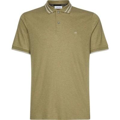 カルバン クライン Calvin Klein Menswear メンズ ポロシャツ トップス Slim Polo Top Olive Green