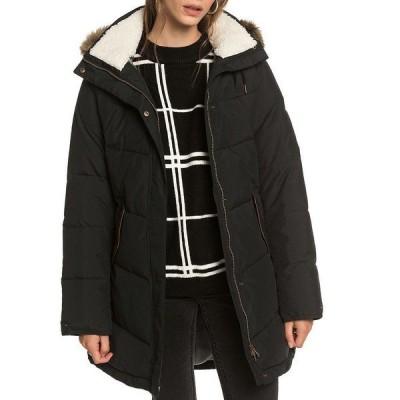 ロキシー レディース ジャケット&ブルゾン アウター Ellie Faux Fur Trim Hooded Snow Ski Jacket True Black