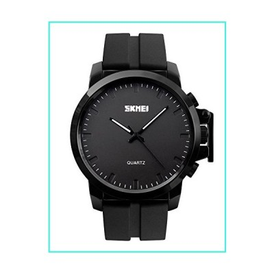 【新品】SKMEI Men Unique Sport Silicone Band Analog Watches with Luminous Hands Wristwatches(並行輸入品)