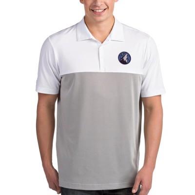 """メンズ ポロシャツ """"Minnesota Timberwolves"""" Antigua Venture Polo - White/Gray"""