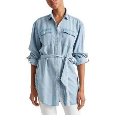 ラルフ ローレン LAUREN Ralph Lauren レディース ブラウス・シャツ トップス Belted Shirt Pale Blue Wash