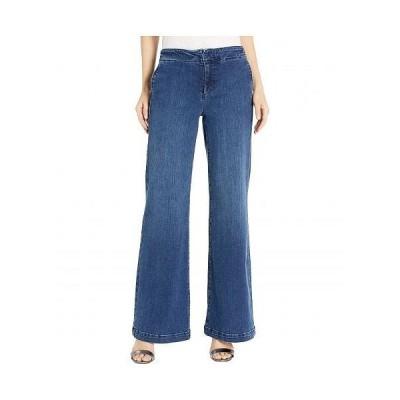 NYDJ エヌワイディージェー レディース 女性用 ファッション ジーンズ デニム Wide Leg Trouser Jeans with Side Seam Welt Pockets in Clean Habana - Clean