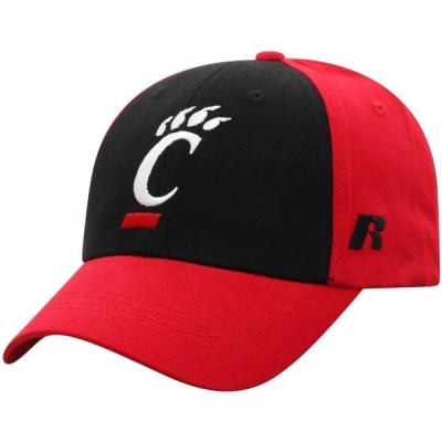 メンズ スポーツリーグ アメリカ大学スポーツ Men's Russell Athletic Black/Red Cincinnati Bearcats Endless Two-Tone Adjustable Hat -