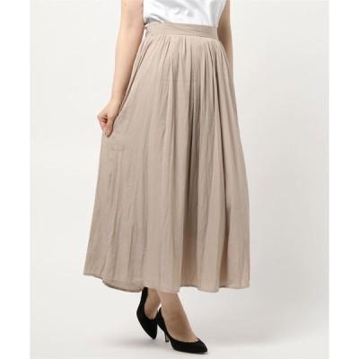 スカート キカ柄ジャカードロングスカート
