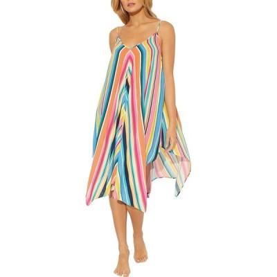 ブルーロッドビーティ レディース ワンピース トップス Color Bomb Handkerchief Hem Stripe Swim Cover Up Dress Multi