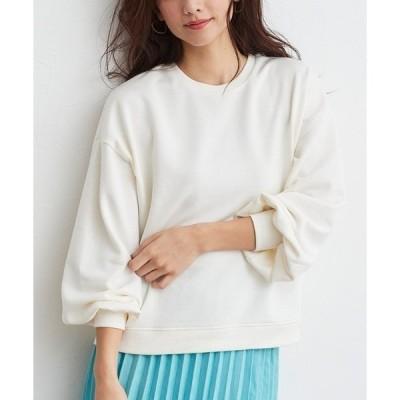 tシャツ Tシャツ ミニ裏毛ボリュームスリーブプルオーバー