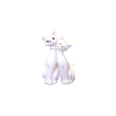 ペア猫 パール ホワイト