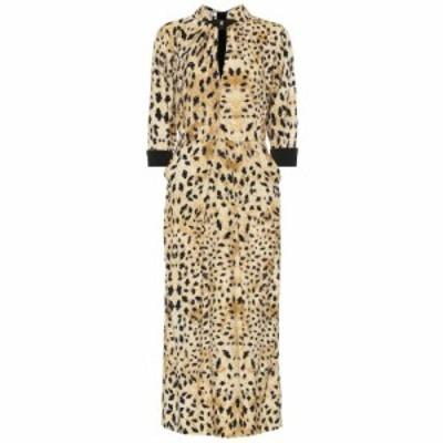 プラダ Prada レディース ワンピース ワンピース・ドレス Leopard-printed sable dress Vaniglia/nero