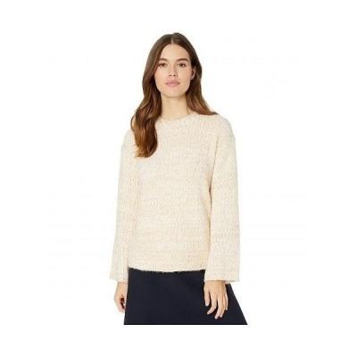 Miss Me ミスミー レディース 女性用 ファッション セーター Metallic Fuzzy Long Sleeve Sweater - Champagne