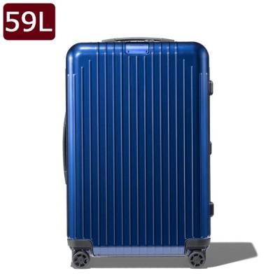 リモワ RIMOWA エッセンシャル ライト チェックイン M キャリーオン 4輪 スーツケース グロスブルー 59L 82363604 BLUE GLOSS