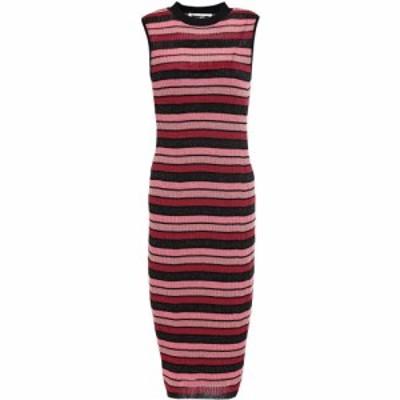 アレキサンダー マックイーン McQ Alexander McQueen レディース ワンピース ワンピース・ドレス metallic striped ribbed-knit dress Pi